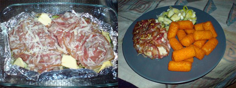 Kipfilet in pancetta met prei