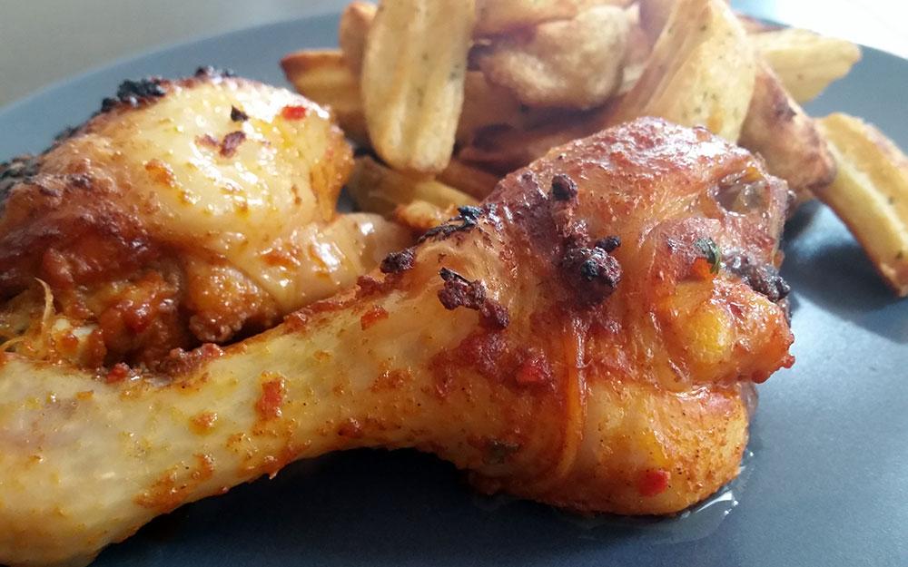 Kip Sweet Chili met aardappelpartjes